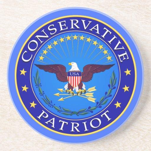Patriota conservador posavaso para bebida
