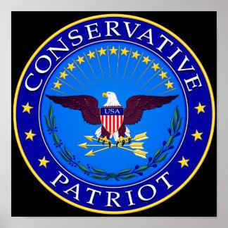 Patriota conservador póster