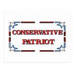 Patriota conservador tarjetas postales