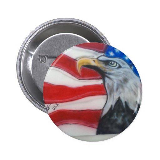 Patriota de American Eagle Pin