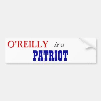 Patriota de Bill O'Reilly Pegatina Para Auto