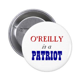 Patriota de Bill O'Reilly Pin Redondo De 2 Pulgadas