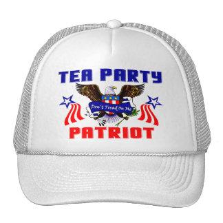 Patriota de la fiesta del té gorros