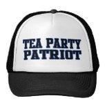 Patriota de la fiesta del té gorros bordados