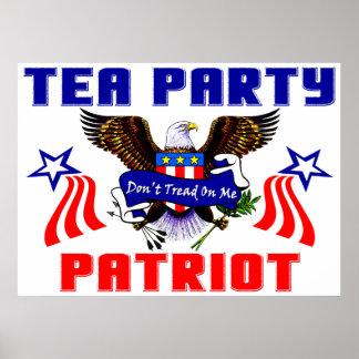 Patriota de la fiesta del té póster