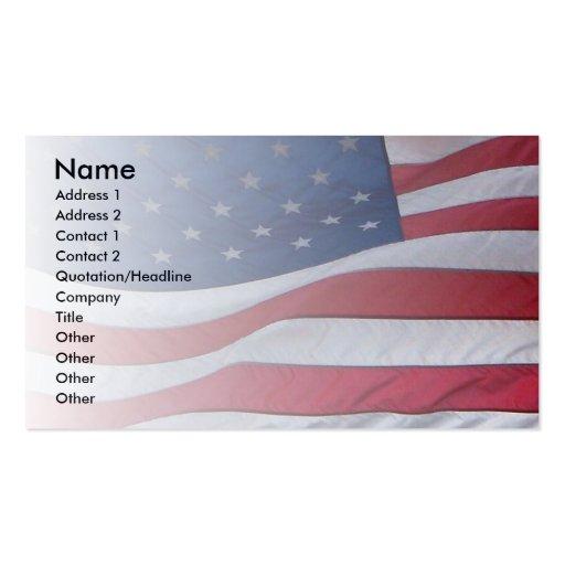 Patriota de los E.E.U.U. Tarjetas De Visita