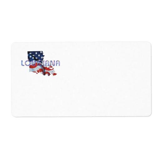 Patriota de Luisiana de la CAMISETA Etiqueta De Envío