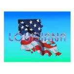 Patriota de Luisiana de la CAMISETA Tarjeta Postal