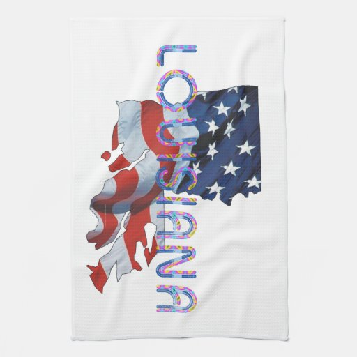 Patriota de Luisiana de la CAMISETA Toallas