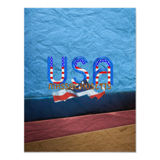 """Patriota de Massachusetts de la CAMISETA Invitación 4.25"""" X 5.5"""""""