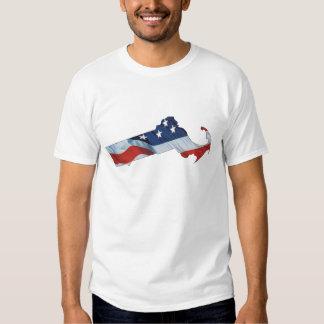 Patriota de Massachusetts de la CAMISETA Poleras