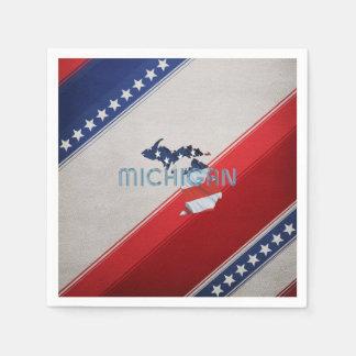 Patriota de Michigan de la CAMISETA Servilleta Desechable