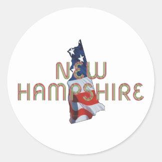 Patriota de New Hampshire Pegatina Redonda