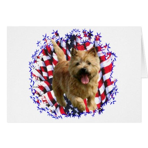 Patriota de Norwich Terrier Tarjeta De Felicitación