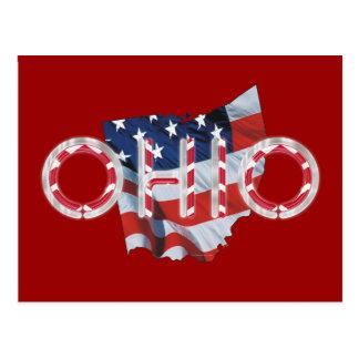 Patriota de Ohio de la CAMISETA Tarjetas Postales