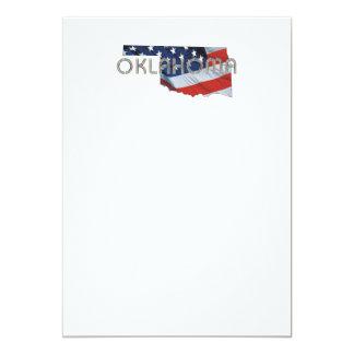 Patriota de Oklahoma de la CAMISETA Invitación 12,7 X 17,8 Cm
