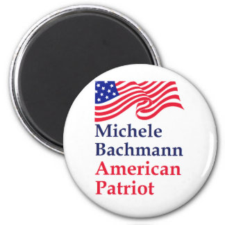 Patriota del americano de Micaela Bachmann Imán Redondo 5 Cm