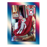 Patriota del mono del calcetín tarjetas postales