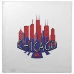 Patriota del newwave del horizonte de Chicago Servilleta