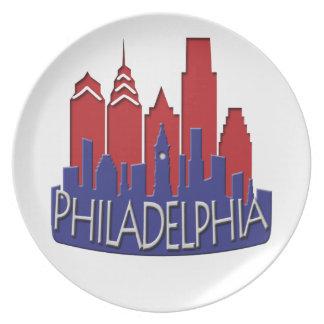 Patriota del newwave del horizonte de Philly Platos De Comidas