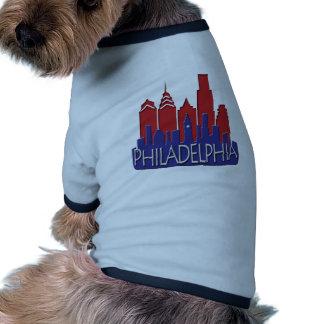 Patriota del newwave del horizonte de Philly Camiseta Con Mangas Para Perro
