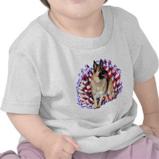 Patriota del pastor alemán camisetas