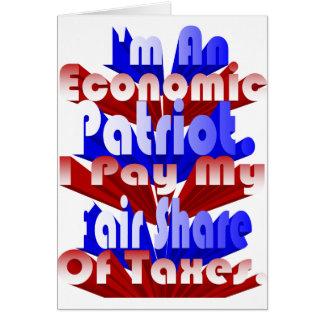 Patriota económico tarjeta de felicitación