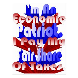 Patriota económico tarjetas postales