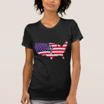 Patriota en bandera camisetas
