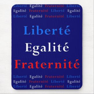 Patriota francés Mousepad - libertad, igualdad… Alfombrillas De Ratones