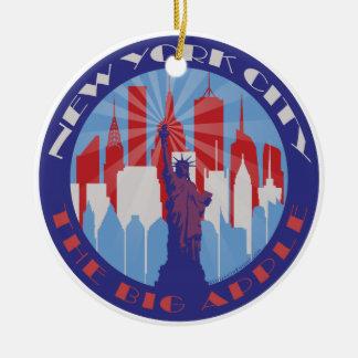 Patriota grande de NYC Apple Ornato