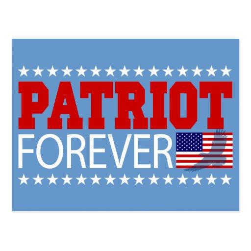 Patriota para siempre postales
