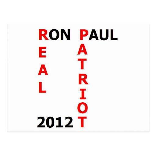 Patriota real 2012 de Ron Paul Postal