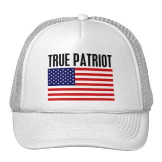 Patriota verdadero gorras de camionero