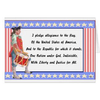 Patriota y compromiso del logotipo de la lealtad tarjeta de felicitación