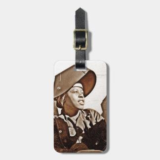 Patriotas afroamericanos de las mujeres etiquetas de equipaje