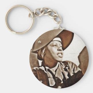 Patriotas afroamericanos de las mujeres llaveros personalizados