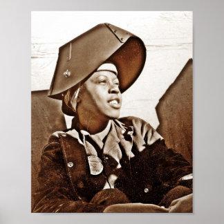 Patriotas afroamericanos de las mujeres póster