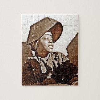 Patriotas afroamericanos de las mujeres puzzles con fotos