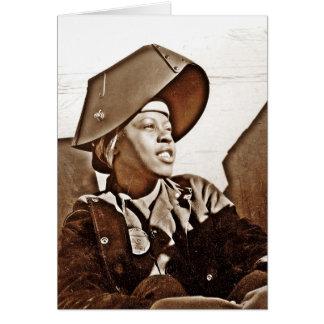 Patriotas afroamericanos de las mujeres tarjeta de felicitación