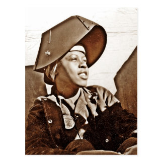 Patriotas afroamericanos de las mujeres tarjeta postal