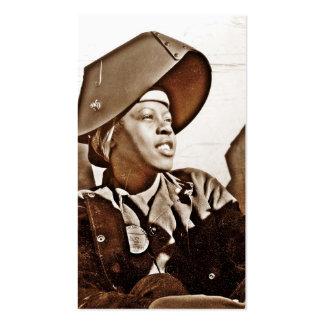 Patriotas afroamericanos de las mujeres tarjetas de visita