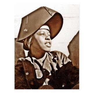 Patriotas afroamericanos de las mujeres tarjetas postales