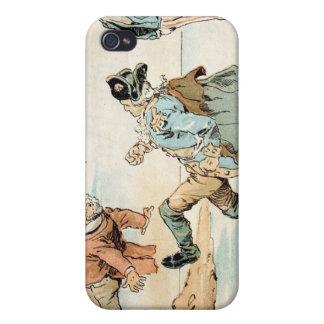 Patriotas americanos que golpean hacia fuera a los iPhone 4 carcasa