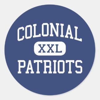 Patriotas coloniales Memphis media Tennessee Pegatinas Redondas