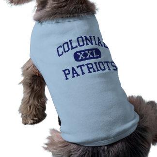 Patriotas coloniales Memphis media Tennessee Camiseta De Perro