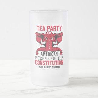 Patriotas de la constitución taza de cristal