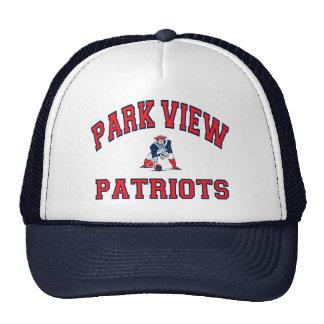 Patriotas de la opinión del parque gorros