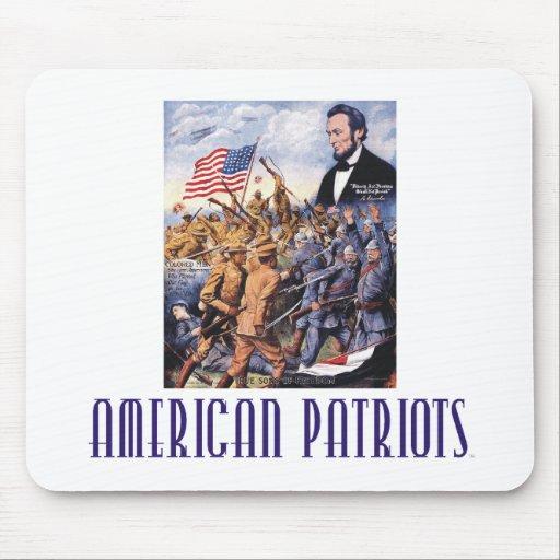 Patriotas del americano de la CAMISETA Tapetes De Ratón