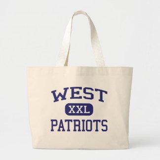 Patriotas del oeste Binghamton medio Nueva York Bolsa Lienzo